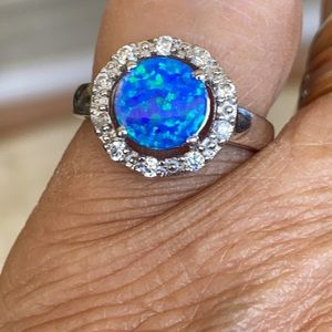 """925 Sterling Silver """"Opal"""" Ring"""